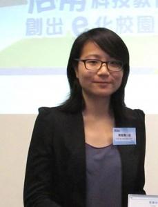 陳婉菁小姐分享了拍卡考勤及圖書管理的前線推展經驗,極具參考價值。