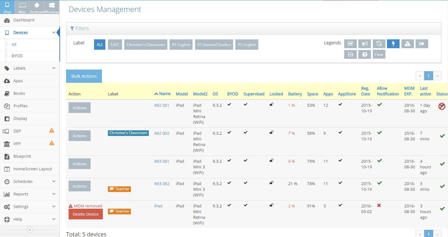 eAdmin Screen Cap 2